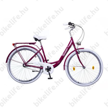 """Neuzer Balaton 26""""-os Nexus 3 agyváltós városi kerékpár padlizsán-fehér"""