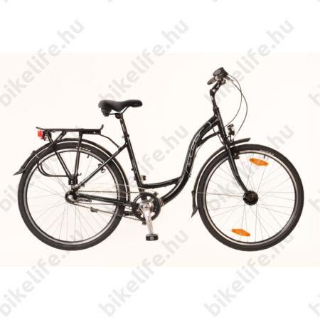 """Neuzer Padova 26""""-os városi kerékpár aluvázas 3 fokozatú agyváltós agydinamós fekete/türkiz"""