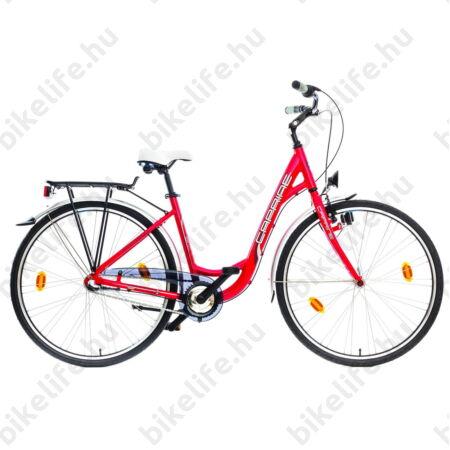 """Caprine Ville női trekking kerékpár Shimano Nexus 3sebességes agyváltó, piros/ezüst 18"""""""