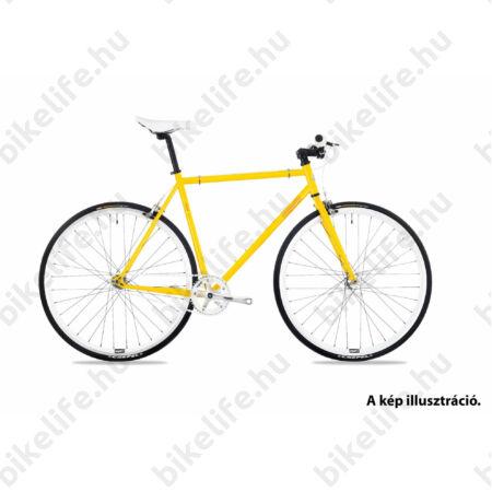 """Csepel Royal 3* singlespeed 28"""" kerékpár flipflop aggyal, férfi 52cm sárga"""