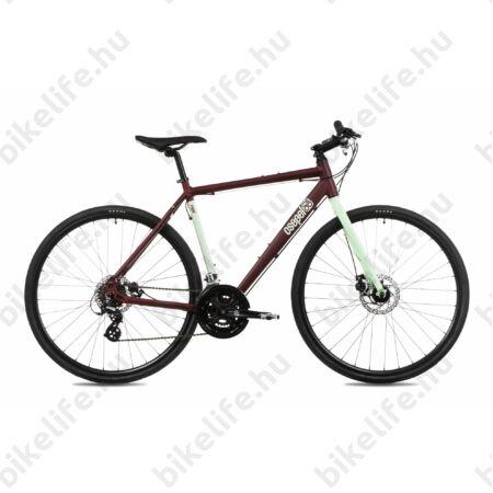 """Csepel Rapid alu 1.1, 28"""" kerékpár, matt bordó/menta színű, 51 cm"""