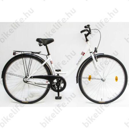 Csepel Ambition 28-as kontrafékes női kerékpár fehér monovázas
