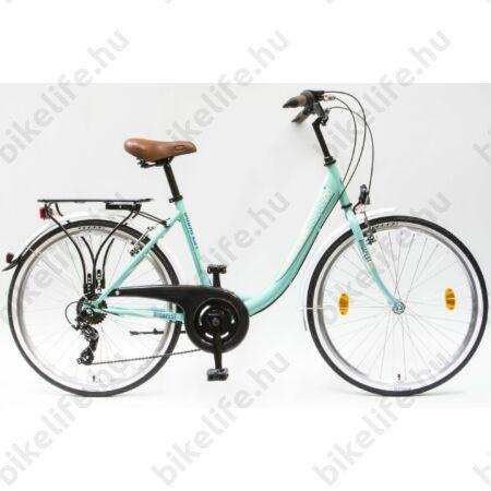 """Csepel Budapest B 28""""-os városi kerékpár 3 fokozatú Nexus agyváltó, türkiz/fehér"""