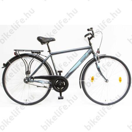 """Csepel Budapest 28""""-os városi férfi kerékpár, kontrás, kék"""