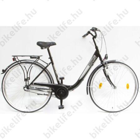 """Csepel Budapest B 28""""-os városi kerékpár 3 sebességes Nexus agyváltó, fekete"""