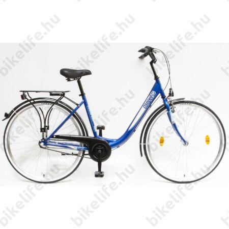 """Csepel Budapest B 28""""-os városi kerékpár 3 sebességes Nexus agyváltó, kék/fehér, 2016"""