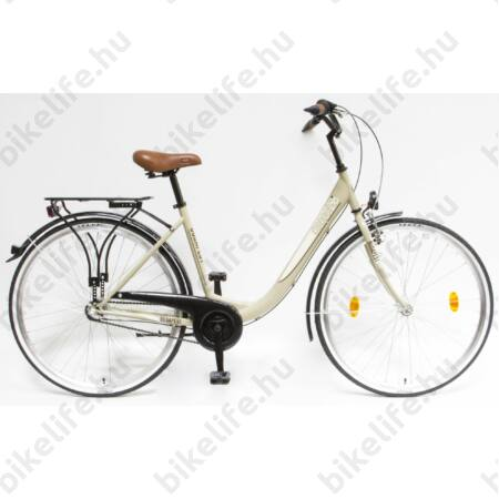 """Csepel Budapest B 28""""-os városi kerékpár 3 sebességes Nexus agyváltó, piros"""