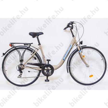 """Csepel Budapest B 28""""-os városi kerékpár 7sebességes láncváltós, világosbarna"""