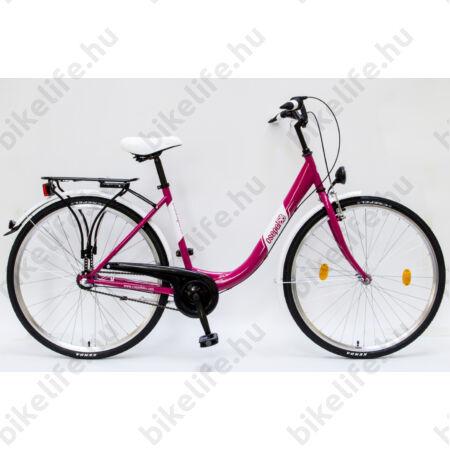 """Csepel Budapest B 28""""-os városi kerékpár 3 sebességes Nexus agyváltó, rózsaszín"""
