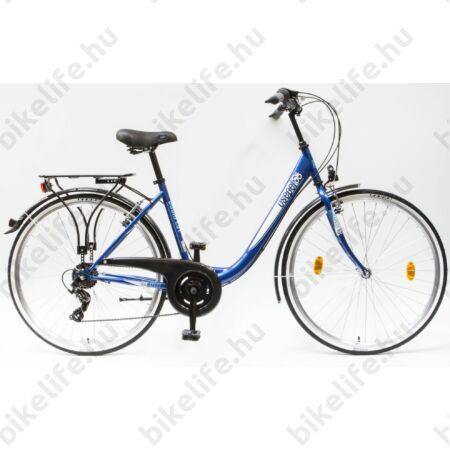 """Csepel Budapest B 28""""-os városi kerékpár 7sebességes láncváltós, sötétkék"""