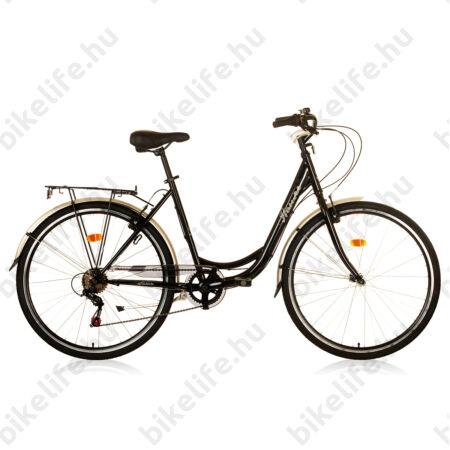 """Hauser Swan 28""""-os városi kerékpár 6sebességes DF fekete"""