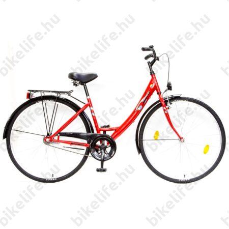 Csepel Ambition 28-as kontrafékes női kerékpár piros monovázas
