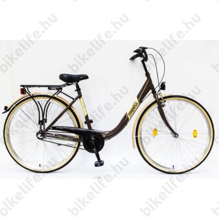 """Csepel Budapest B 28""""-os városi kerékpár 3 sebességes Nexus agyváltó, barna"""