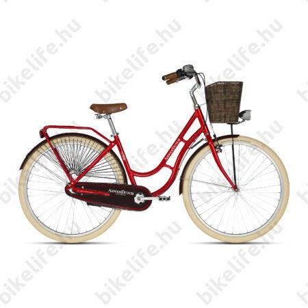 """Kellys Arwen Dutch Red 2019 28""""-os holland jellegű városi kerékpár 3 fokozatú Nexus agyváltó, 46cm"""