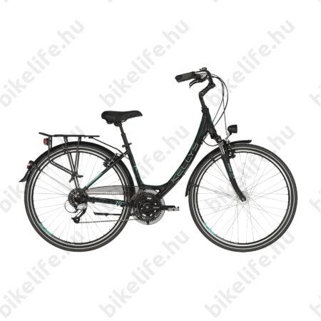"""Kellys Avenue 70 2019 28""""-os városi kerékpár 24 fokozatú Shimano Altus váltó, agydinamó, 43cm"""