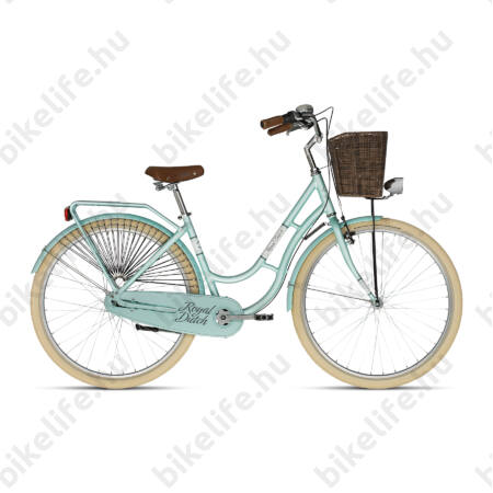 """Kellys Royal Dutch Mentol 2019 28""""-os holland jellegű városi kerékpár 7 fokozatú Nexus agyváltó, 46cm"""