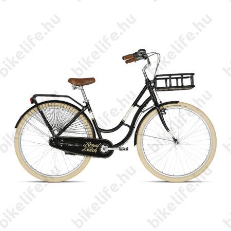 """Kellys Royal Dutch Black 2019 28""""-os holland jellegű városi kerékpár 7 fokozatú Nexus agyváltó, 46cm"""