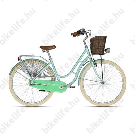 """Kellys Arwen Dutch Mentol 2019 28""""-os holland jellegű városi kerékpár 3 fokozatú Nexus agyváltó, 46cm"""