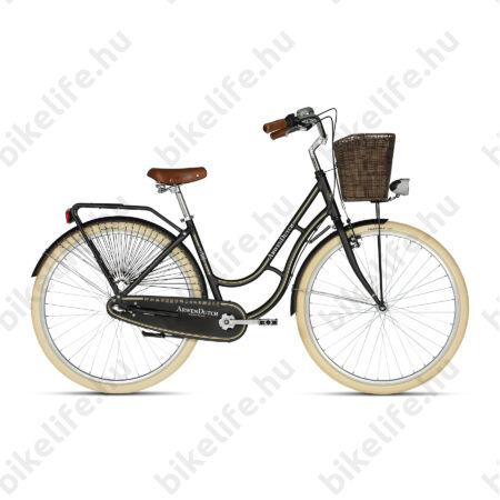 """Kellys Arwen Dutch Black 28""""-os holland jellegű városi kerékpár 3 fokozatú Nexus agyváltó, 46cm"""