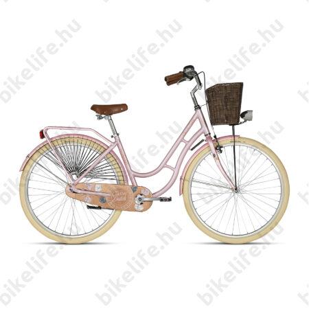 """Kellys Classic Dutch Coral 2019 28""""-os holland jellegű városi kerékpár, kontrás, 46cm"""
