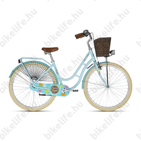 """Kellys Classic Dutch Blue 2019 28""""-os holland jellegű városi kerékpár, kontrás, 46cm"""