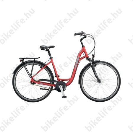 """KTM City Line 7 28""""-os városi kerékpár W-váz 7 fokozatú Shimano Nexus agyváltó és agydinamó, matt bordó 46cm"""
