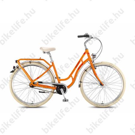 """KTM Tourella 7 2016 28""""-os városi kerékpár, 7 seb. Shimano Nexus agyváltó, narancs retró festés, 46cm"""