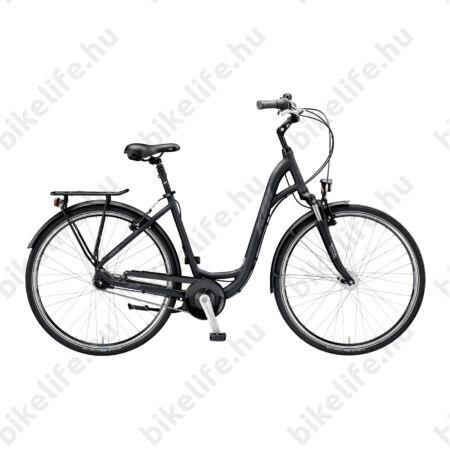 """KTM City Line 7 28""""-os városi kerékpár W-váz 7 fokozatú Nexus agyváltó és agydinamó, matt fekete 46cm"""