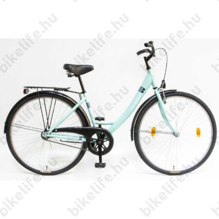 Csepel Ambition 28-as kontrafékes női kerékpár zöld monovázas