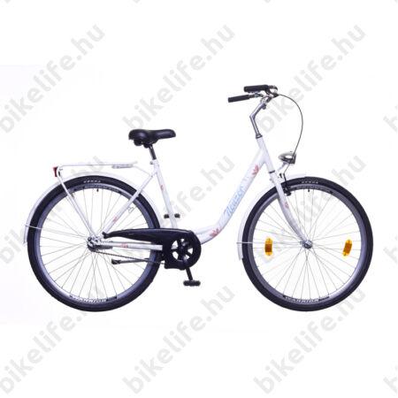 """Neuzer Balaton 28""""-os városi kerékpár kontrás fehér virág mintás"""