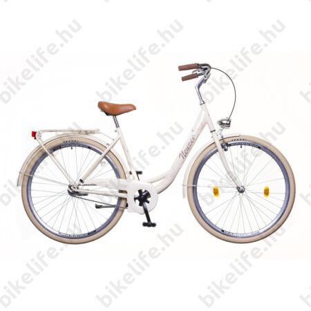 """Neuzer Balaton Prémium 28""""-os városi kerékpár kontrás, krém"""