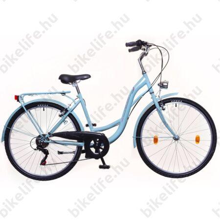 """Neuzer Ravenna 6 28""""-os városi kerékpár 6 sebességes Shimano váltó, celeste"""