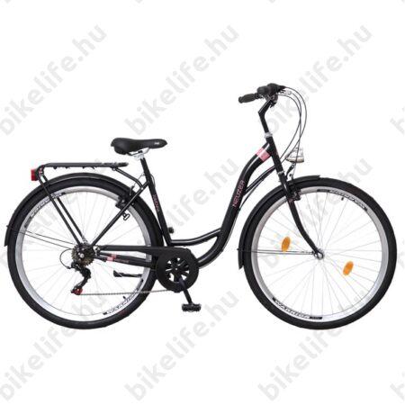 """Neuzer Ravenna 6 28""""-os városi kerékpár 6 sebességes Shimano váltó, fekete/kék-szürke"""