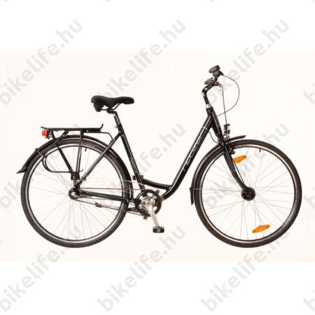 """Neuzer Padova 28""""-os városi kerékpár aluvázas 3 fokozatú agyváltós agydinamós fekete/türkiz"""