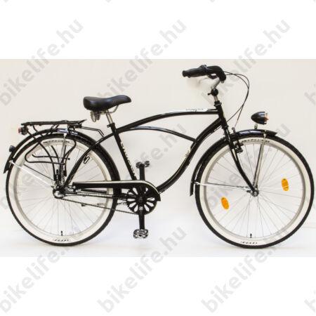 Csepel Cruiser kerékpár, férfi, Shimano Nexus3 agyváltó, fekete