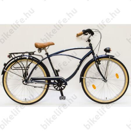 Csepel Cruiser kerékpár, férfi, Shimano Nexus3 agyváltó, kék/barna