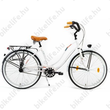 Csepel Cruiser kerékpár, női, Shimano Nexus 3 agyváltó, fehér