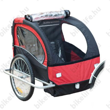 Gyermekutánfutó 2 gyermek szállítására (összsúly: max.40kg) könnyedén le/felszerelhető jogging szett, piros