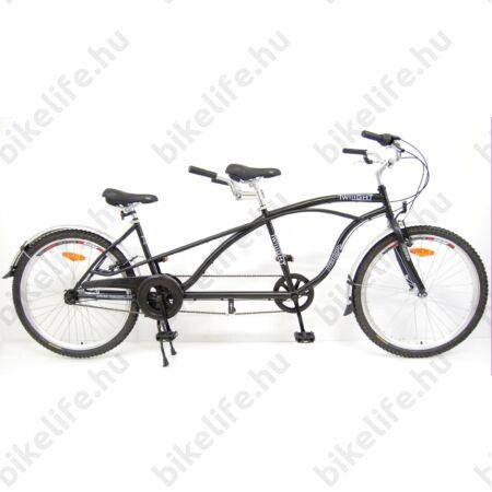 Tandem kerékpár Neuzer Twilight, cruiser jellegű, Nexus 3 fokozatú agyváltóval, fekete