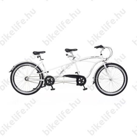 Tandem kerékpár Neuzer Twilight, cruiser jellegű, Nexus 3 fokozatú agyváltóval, fehér/fekete