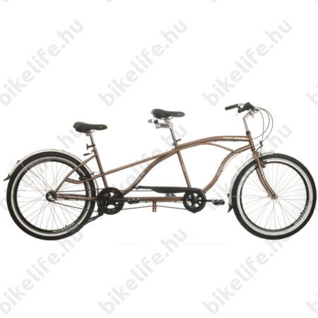 Tandem kerékpár Neuzer Twilight, cruiser jellegű, Nexus 3 fokozatú agyváltóval, barna