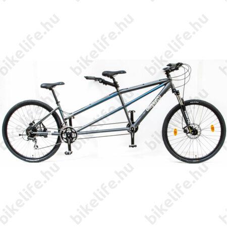 """Csepel Tandem kerékpár, alumínium váz, merev villa, 24 fokozatú szürke színű, 19""""/15"""""""