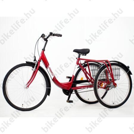 """Csepel Budapest felnőtt tricikli Shimano Nexus3 agyváltóval, bordó 26"""""""