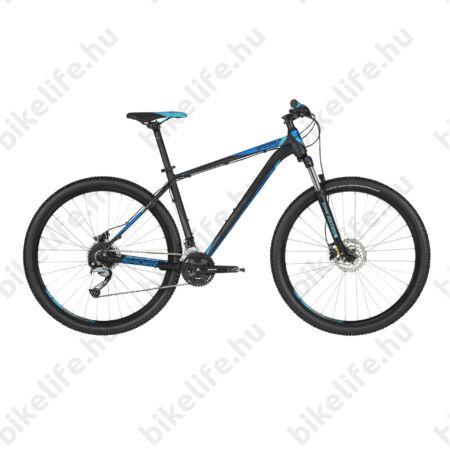 """Kellys Spider 50 Black Blue 2019 29""""-os MTB kerékpár 27fok. Shimano Acera váltó, DISC, S/17"""""""