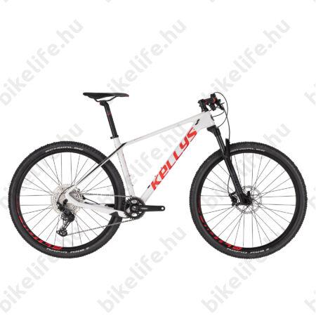 """Kellys Hacker 30 White 29""""-os MTB kerékpár, Carbon váz, 1x12 fokozatú Shimano SLX váltó, Rock Shox tel. L"""