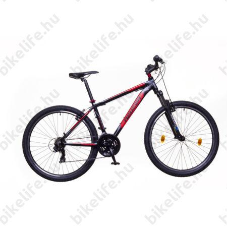 """Neuzer Duster Hobby 27,5""""-os MTB kerékpár 21 fokazatú Shimano TY300 váltó, fekete/piros-szürke, 19"""""""