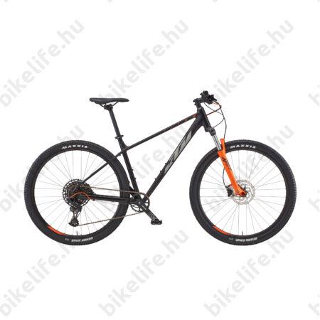 """KTM Ultra Fun 29""""-os MTB kerékpár 18 fokozatú Shimano Deore váltó, hidraulikus tárcsafék, mattfekete (arany/szürke) 19"""""""