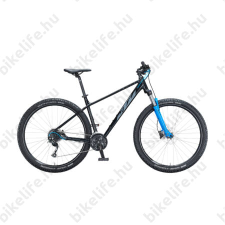 """KTM Chicago 29""""-os MTB kerékpár 2x9 Shimano Altus váltó, hidraulikus tárcsafék, fekete(szürke/kék) 15"""""""