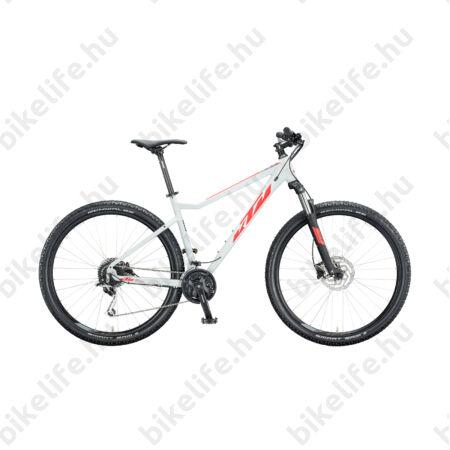 """KTM Ultra Fun 29""""-os MTB kerékpár 27 fokozatú Shimano Deore XT váltó, hidraulikus tárcsafék, mattszürke/piros 17"""""""