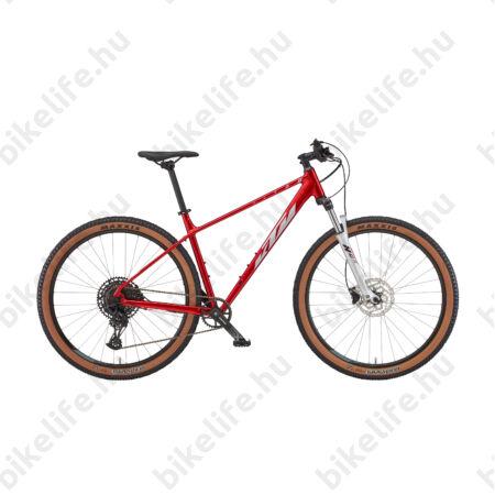 """KTM Ultra Fun 29""""-os MTB kerékpár 18 fokozatú Shimano Deore váltó, hidraulikus tárcsafék, fényes kék/narancs 19"""""""